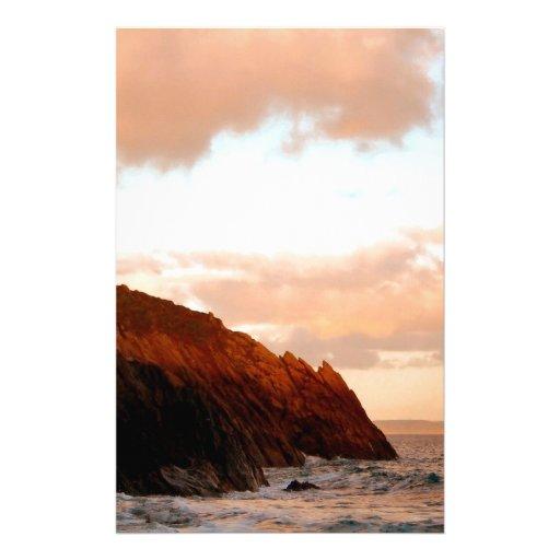 Sky Ragged Cliff Horizon Stationery Paper