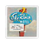 Sky Ranch Motel Sign Acrylic Tray