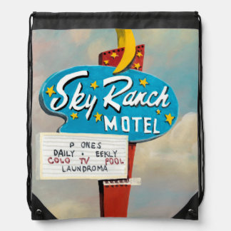 Sky Ranch Motel Sign Drawstring Bag