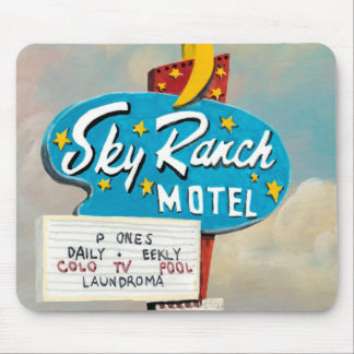 Sky Ranch Motel Sign Mouse Pad