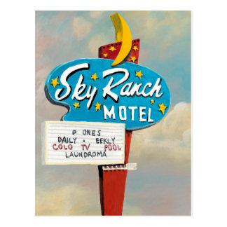 Sky Ranch Motel Sign Postcard