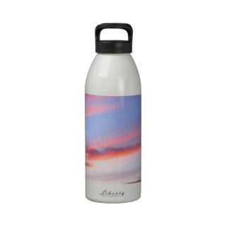 Sky Red At Night Reusable Water Bottles