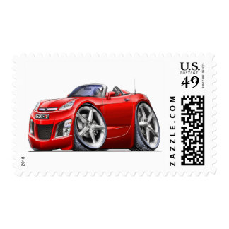 Sky Red Car Postage Stamps