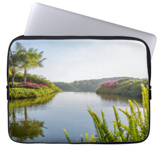 Sky Reflected In Still Tropical Lake Laptop Computer Sleeve