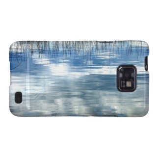 Sky Reflection On Lake With Reeds Android Case Samsung Galaxy Cases