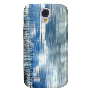 Sky Reflection On Lake With Reeds iPhone 3G Case Samsung Galaxy S4 Cases