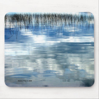 Sky Reflection On Lake With Reeds Mouse Pad