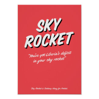 Sky Rocket Cockney rhyming slang poster