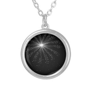 Sky Rocket Explosion Silver Plated Necklace