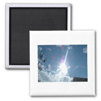 Sky Rocket  - Sun in all its Splendor 2 Inch Square Magnet