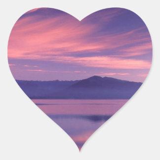 Sky Royal Reflection On Hood Canal Heart Sticker
