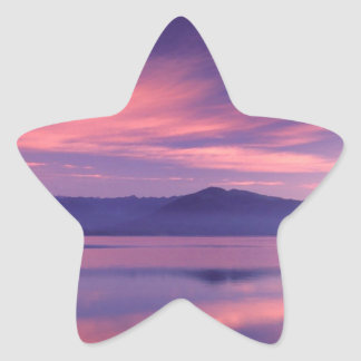 Sky Royal Reflection On Hood Canal Star Sticker