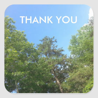 Sky scene with trees and clouds thank you stickers