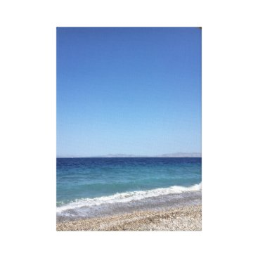 Beach Themed Sky seas and beach canvas print