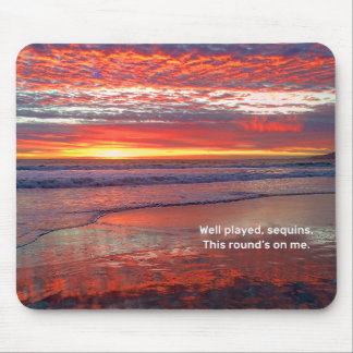 Sky Sequins Mouse Pad