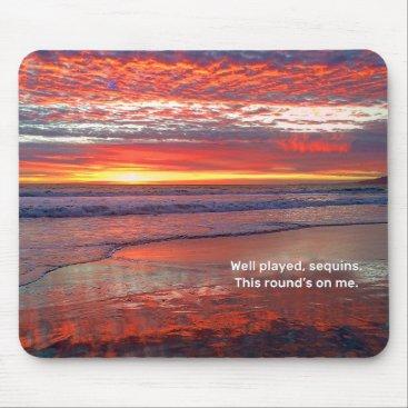 Beach Themed Sky Sequins Mouse Pad