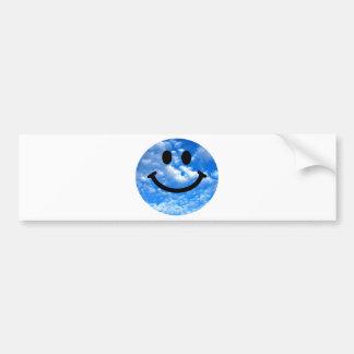 Sky Smiley Bumper Sticker