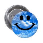 Sky Smiley Pinback Button