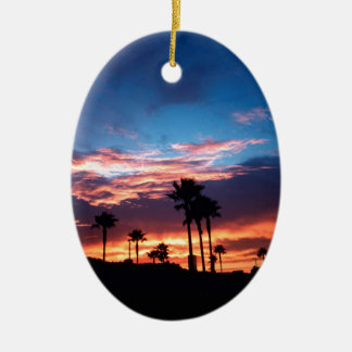 Sky Southern California Sunset Christmas Tree Ornaments
