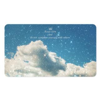 Sky Sparkles Business Card Template
