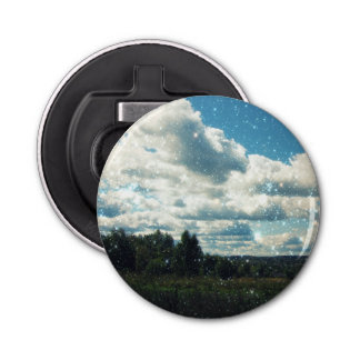 Sky Sparkles Button Bottle Opener