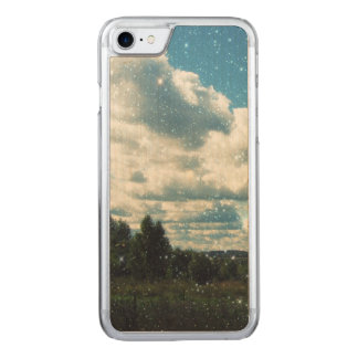 Sky Sparkles Carved iPhone 7 Case