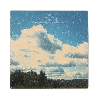 Sky Sparkles Maple Wood Coaster