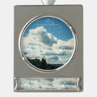 Sky Sparkles Silver Plated Banner Ornament