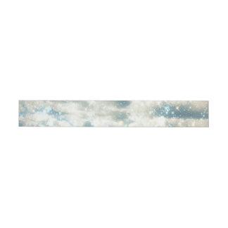 Sky Sparkles Wraparound Address Label