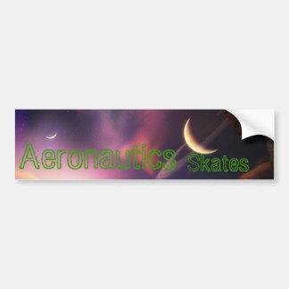 Sky Splash, Aeronautics, Skates Bumper Sticker