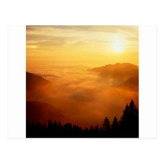 Sky St Gallen Switzerland Postcard