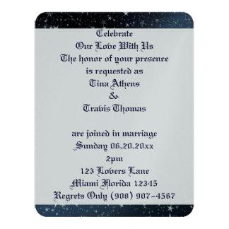 Sky Stars Love Wedding Bride Groom Peace Destiny Card