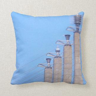 Sky Stations Pylon Caps Downtown Kansas City Throw Pillow