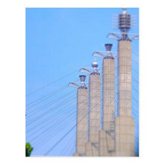 Sky Stations Pylon Caps Downtown Kansas City Postcard