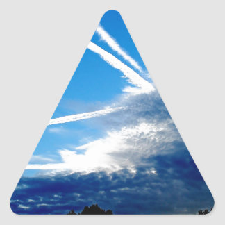Sky Storm Clouds Approach Triangle Stickers