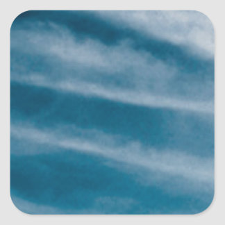 sky streaks square sticker