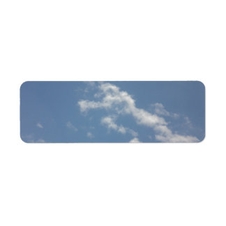 Sky, Sun and Sea Custom Return Address Label