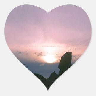 Sky Sun Ring Sea Stacks Oregon Oregon Heart Sticker