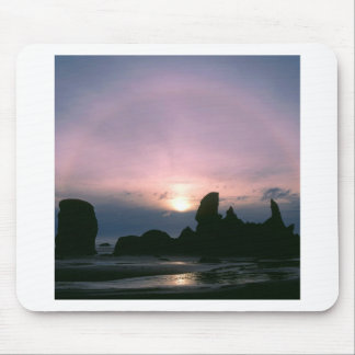 Sky Sun Ring Sea Stacks Oregon Oregon Mouse Pad