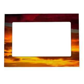 sky sunrise magnetic photo frame