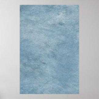 Sky Teal Aqua Blue Watercolor Paper Color Poster