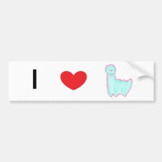 Sky the Alpaca Bumper Sticker