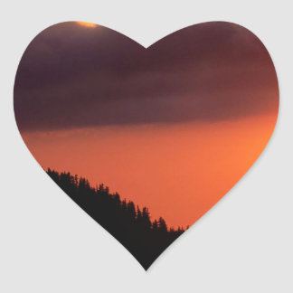 Sky The Warm Front Oregon Heart Sticker