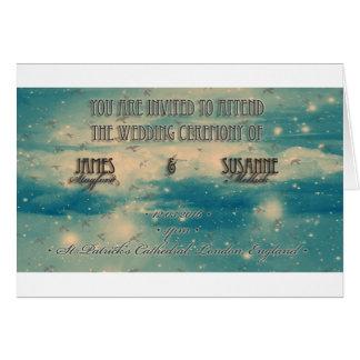 Sky theme Wedding Invitation Greeting Card