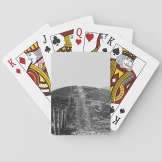 Sky Themed, A Black And White Picture Of A Hill Se Poker Deck