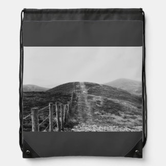 Sky Themed, A Black And White Picture Of A Hill Se Cinch Bags