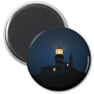 Sky Themed, An Illuminated Light Tower Located Beh 2 Inch Round Magnet