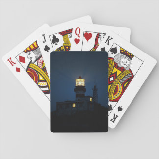 Sky Themed, An Illuminated Light Tower Located Beh Card Deck