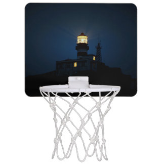 Sky Themed, An Illuminated Light Tower Located Beh Mini Basketball Backboards