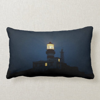 Sky Themed, An Illuminated Light Tower Located Beh Pillows